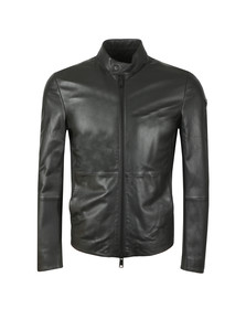 Emporio Armani Mens Black Leather Blouson