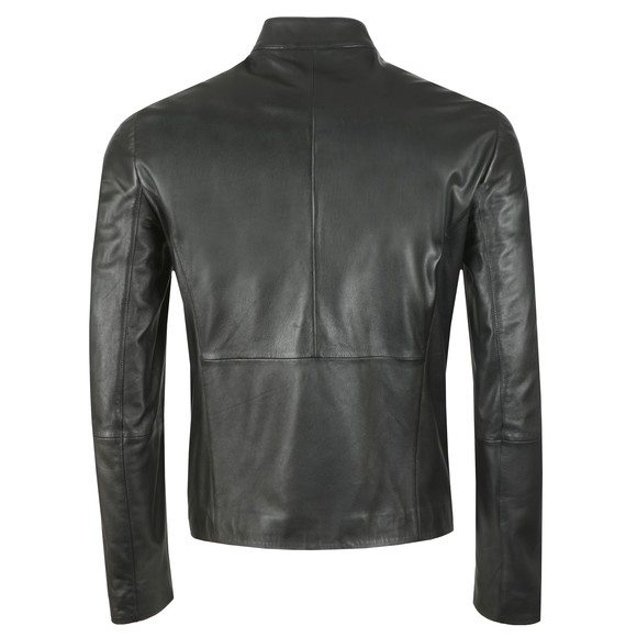 Emporio Armani Mens Black Leather Blouson main image