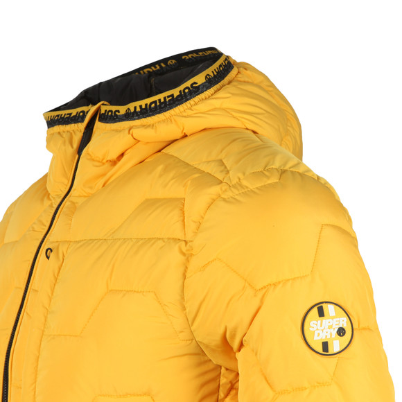 Superdry Mens Yellow Hex Quilt Jacket main image