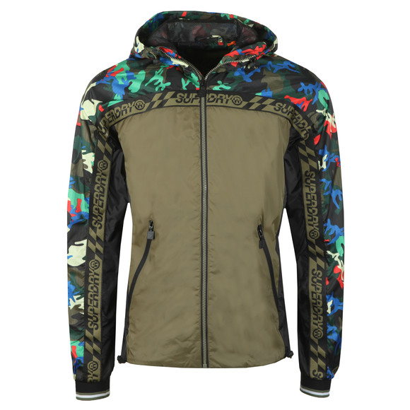 Superdry Mens Green Hawk Colourblock Cagoule main image