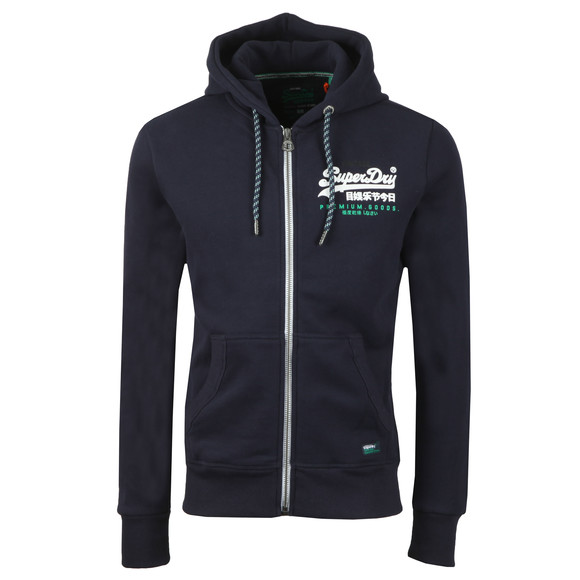 Superdry Mens Blue Goods Racer Ziphood main image