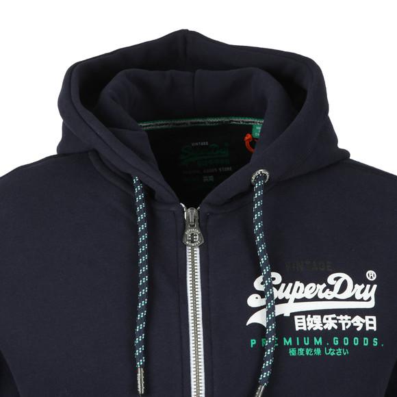 Superdry Mens Blue Goods Racer Ziphood main image