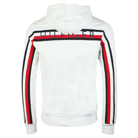Tommy Hilfiger Mens White Global Stripe Rib Hood main image