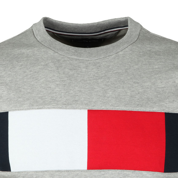 Tommy Hilfiger Mens Grey Flag Chest Logo Sweat main image