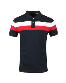 Tommy Hilfiger Mens Blue Chest Stripe Polo