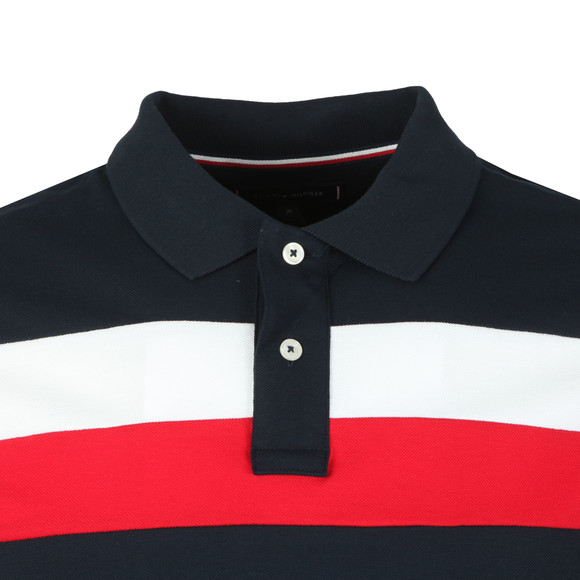 Tommy Hilfiger Mens Blue Chest Stripe Polo main image