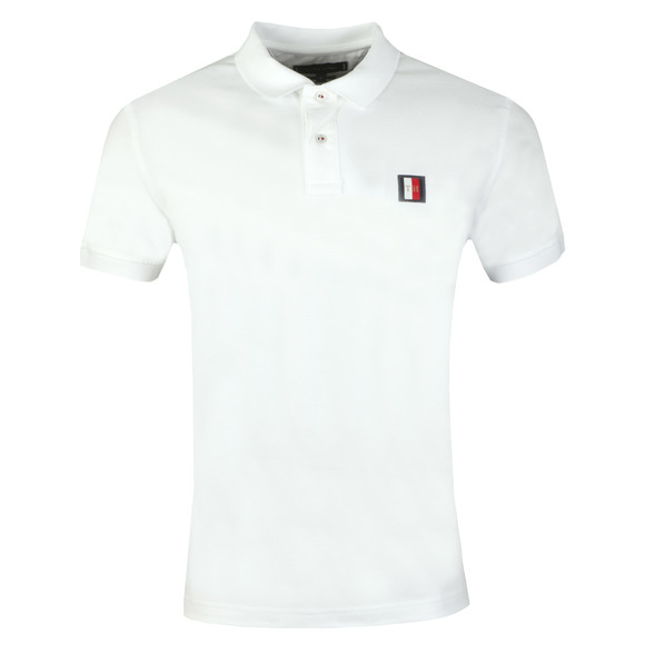 Tommy Hilfiger Mens White Mini Badge Polo main image