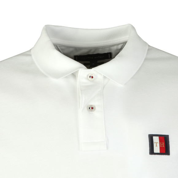 Tommy Hilfiger Mens White Mini Badge Polo main image