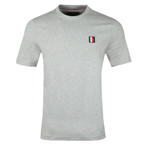 Tommy Hilfiger Mens Grey Icon Woven Label T-Shirt main image
