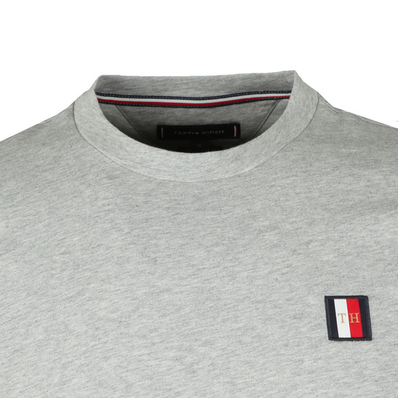 Tommy Hilfiger Mens Grey Icon Woven Label Tee main image