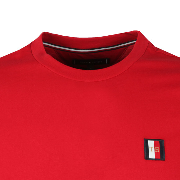 Tommy Hilfiger Mens Red Icon Woven Label Tee main image
