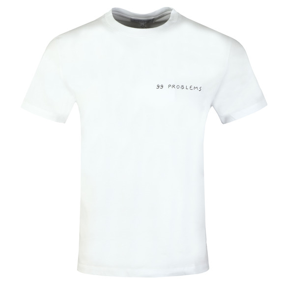 Maison Labiche Mens White 99 Problems Heavy T Shirt main image