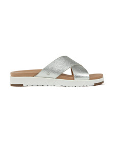 Ugg Womens Silver Kari Metallic Slide