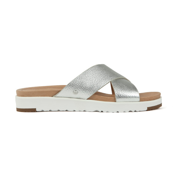 Ugg Womens Silver Kari Metallic Slide main image