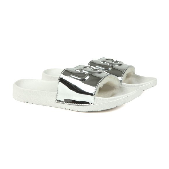 Ugg Womens Silver Royale Graphic Metallic Slides main image