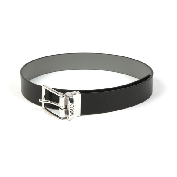 Emporio Armani Boys Black Boys Reversible Leather Belt