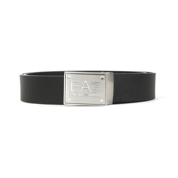 EA7 Emporio Armani Mens Black Plate Logo Belt main image