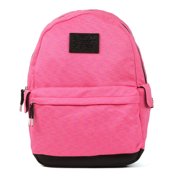 Superdry Womens Pink Jersey Stripe Montana Backpack main image
