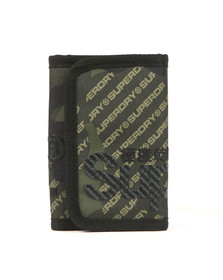 Superdry Mens Green Camo Logo Tarp Wallet