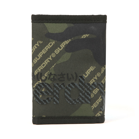 Superdry Mens Green Camo Logo Tarp Wallet main image