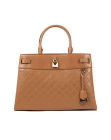Michael Kors Womens Brown Gramercy Large Satchel