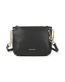 Michael Kors Womens Black Lillie Large Messenger