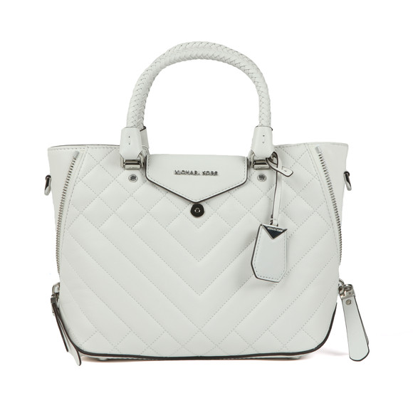 Michael Kors Womens White Blakely Mid Messenger