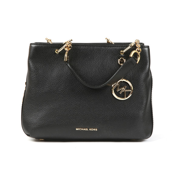 Michael Kors Womens Black Lillie Mid Satchel main image