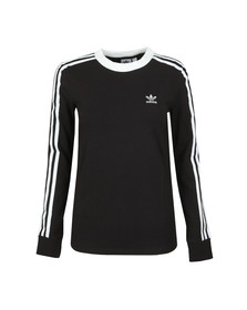 adidas Originals Womens Black 3 Stripes Long Sleeve T-Shirt