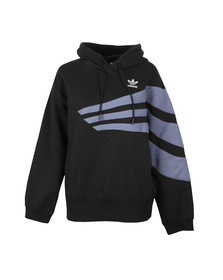 adidas Originals Womens Black Stripe Overhead Hoody