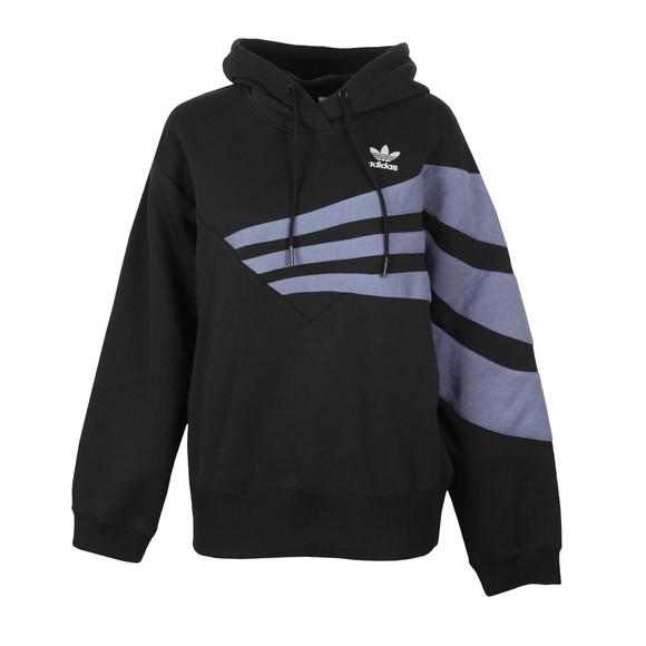 adidas Originals Womens Black Stripe Overhead Hoody main image