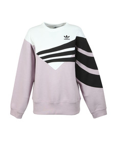 adidas Originals Womens Purple Stripe Sweatshirt