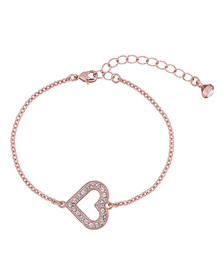 Ted Baker Womens Pink Edriana Enchanted Heart Bracelet
