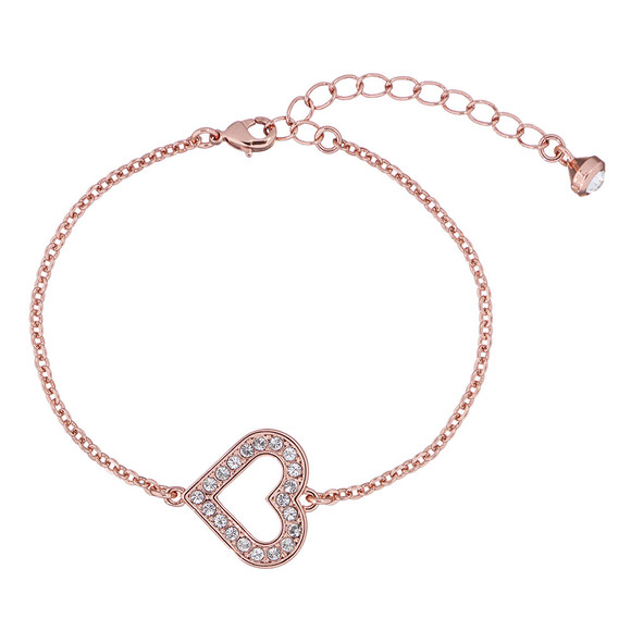 Ted Baker Womens Pink Edriana Enchanted Heart Bracelet main image