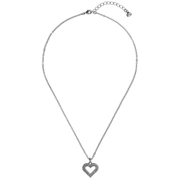 Ted Baker Womens Silver Emerita Enchanted Heart Pendant main image