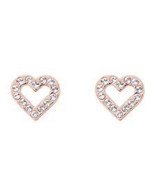Ted Baker Womens Pink Edesiah Enchanted Heart Stud Earring
