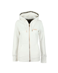 Superdry Womens White Orange Label Elite Ziphood