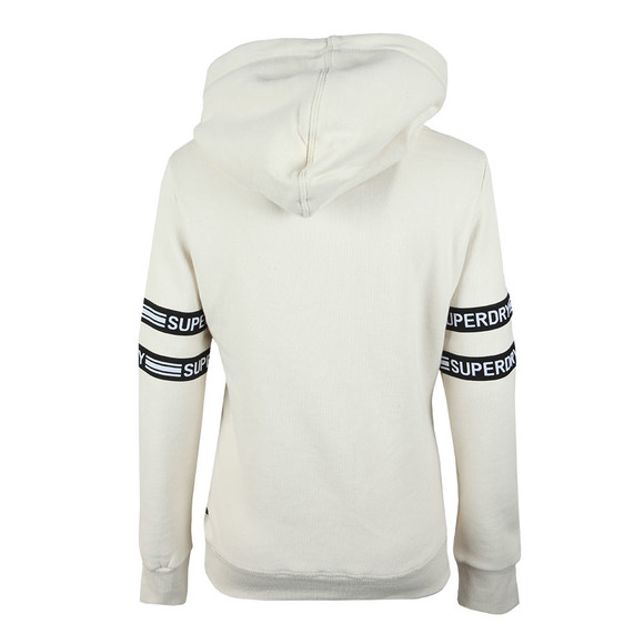 Superdry Womens Beige V Logo Tape Entry Hood main image