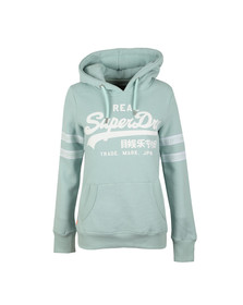 Superdry Womens Grey V Logo Tape Entry Hood