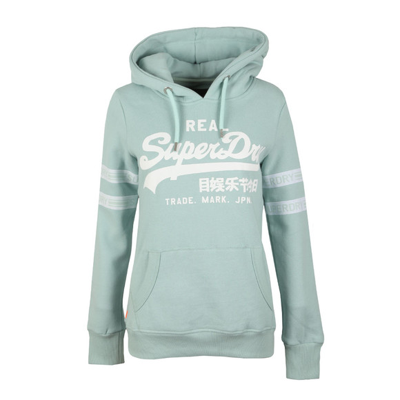 Superdry Womens Grey V Logo Tape Entry Hood main image