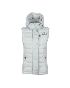 Superdry Womens Grey Fuji Slim Double Zip Vest