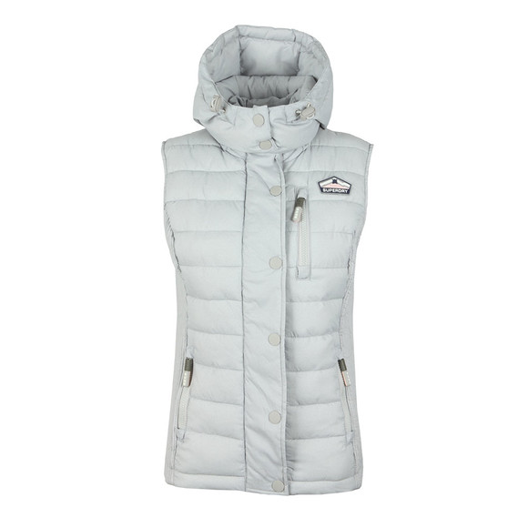Superdry Womens Grey Fuji Slim Double Zip Vest main image