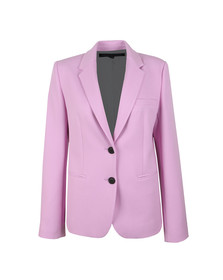 French Connection Womens Pink Sundae Suiting Single Breasted Blazer