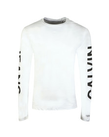 Calvin Klein Jeans Mens White L/S Institutional Back Print Tee