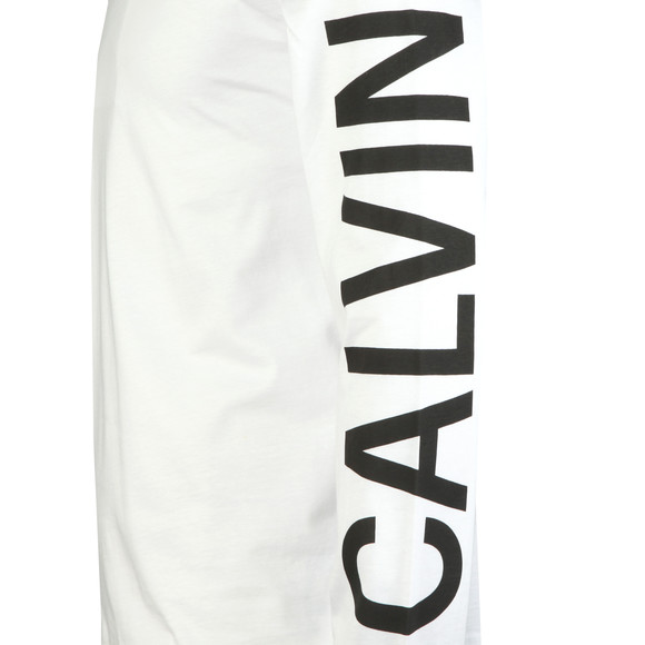 Calvin Klein Jeans Mens White L/S Institutional Back Print Tee main image