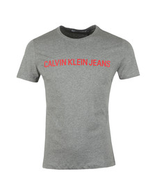 Calvin Klein Jeans Mens Grey S/S Institutional Tee