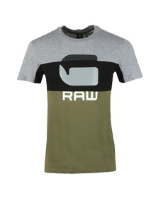G-Star Mens Green Graphic Tee