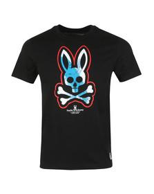 Psycho Bunny Mens Black Large Logo T Shirt