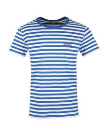 Maison Labiche Mens Blue Holidays T Shirt