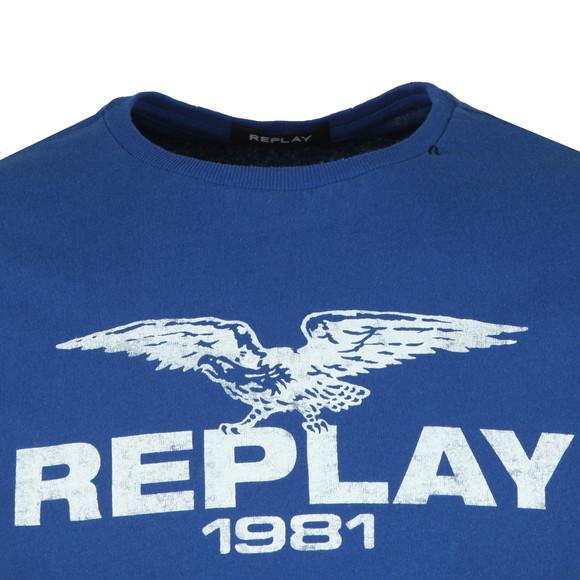 Replay Mens Blue Logo Print Tee main image